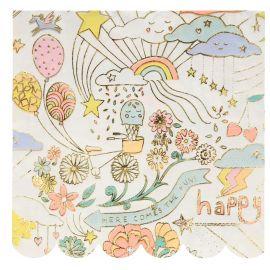 Happy Doodle - grote servetten