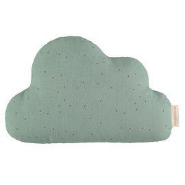 Cloud kussen - toffee sweet dots & eden green