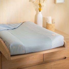 Hoes aankleedkussen Calma 70 x 50 cm - Willow soft blue